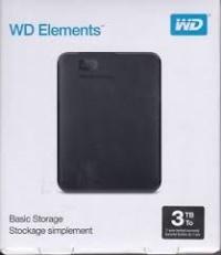"""WD WDBU6Y0030BBK-WESN 3TB Elements SE USB3.0 2,5"""" Taşınabilir Disk"""