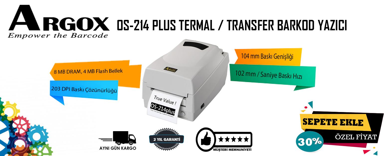 Argox Os-214 Plus Termal Transfer Barkod Yazıcı %30 İndirimle tekburada.com'da