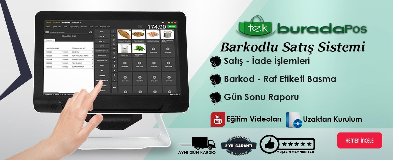 TekburadaPos  Hızlı Satış Sistemi Mağazanıza Hem Satış Yapma Hem De Barkod - Raf Etiketi Yazdırma Olanağı Sunmaktadır.Uygun Fiyatlarla Teknoloji tekburada.com'da